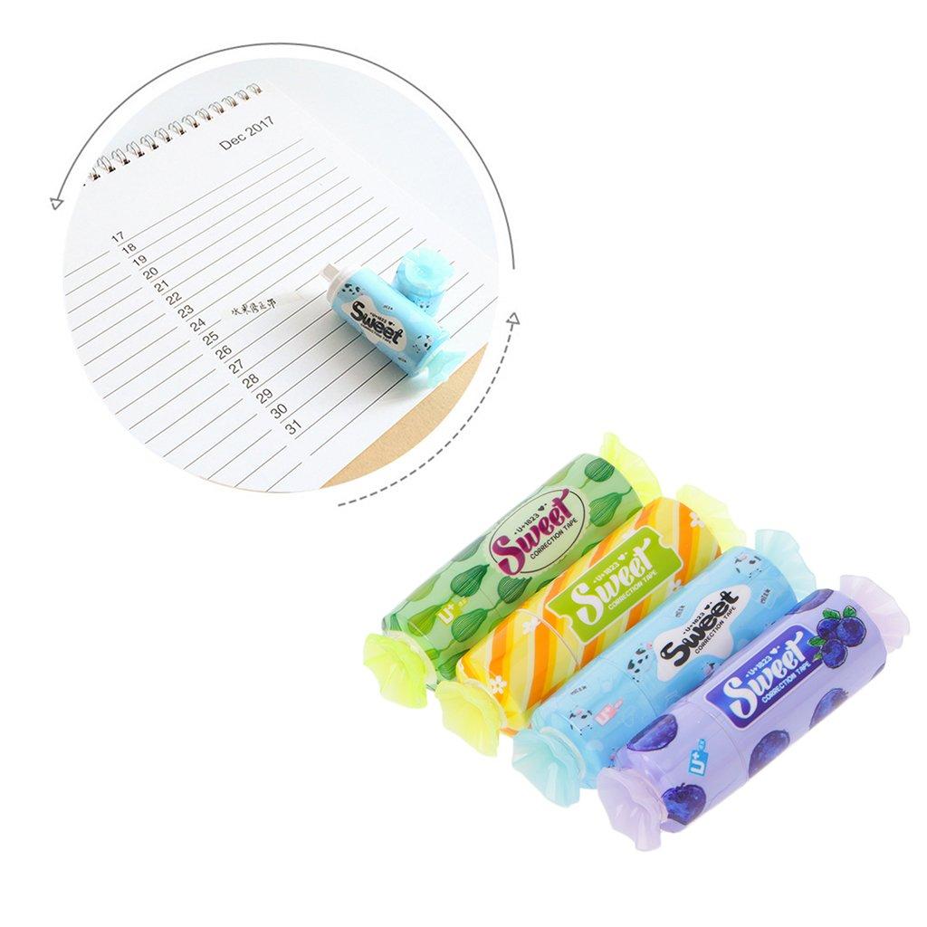 exing Corrector kawaii- cinta correctora kawaii blanc-5 m-fournitures de escritorio escolar papelerí a estudiantes, entrega aleatorio