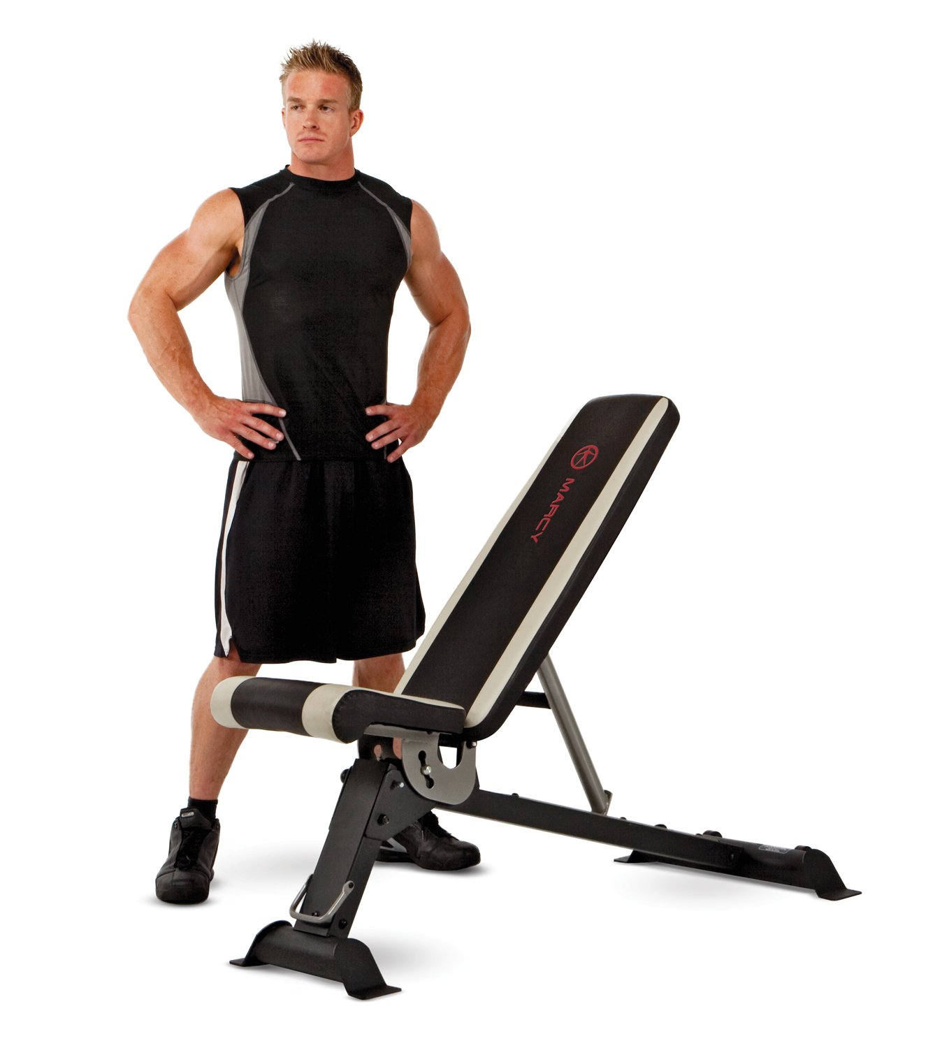 Marcy Adjustable Utility Bench for Home Gym Workout SB-670 by Marcy