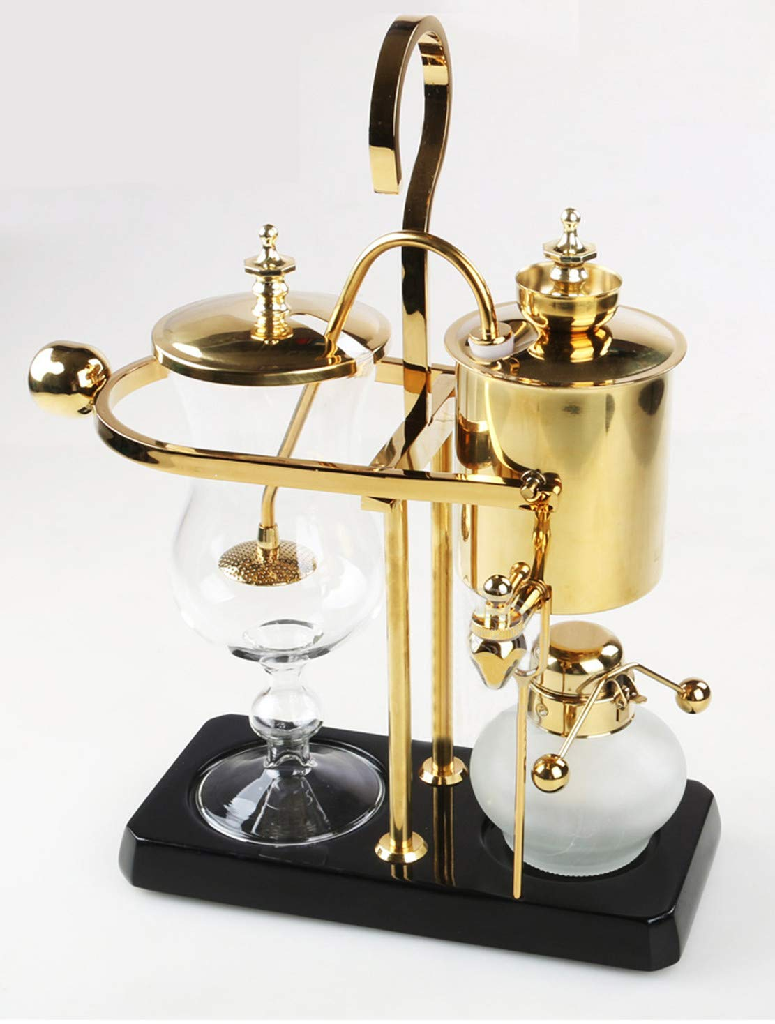 T-king 4-5 People Alcohol Siphon Coffee Stove Manual Coffee Maker Coffee Pot Gold by T-king
