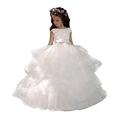 Amazon.com: Hengyud 2018 Flower Girls Dresses for Weddings Country ...