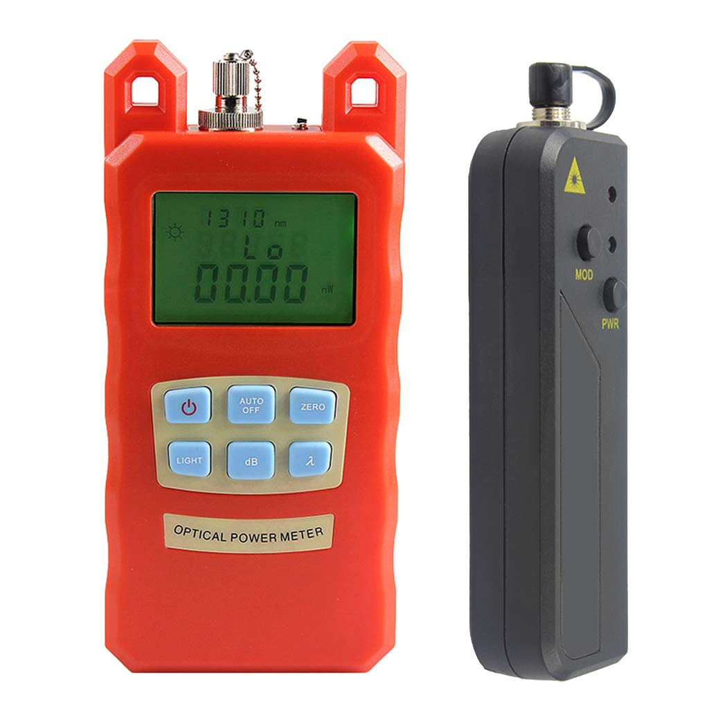 SM SunniMix -70dBm~+10dBm 850~1625nm Optical Power Meter Tester FC SC Handheld Optical Power Meter + with 30mW Visual Fault Locator by SM SunniMix (Image #3)