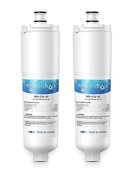 2 x Waterdrop CS-52 reemplazo del filtro de agua del refrigerador para 3M CS