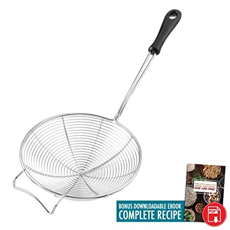Amazon.com: Cocina Araña Colador | Premium 7 inch Red de ...