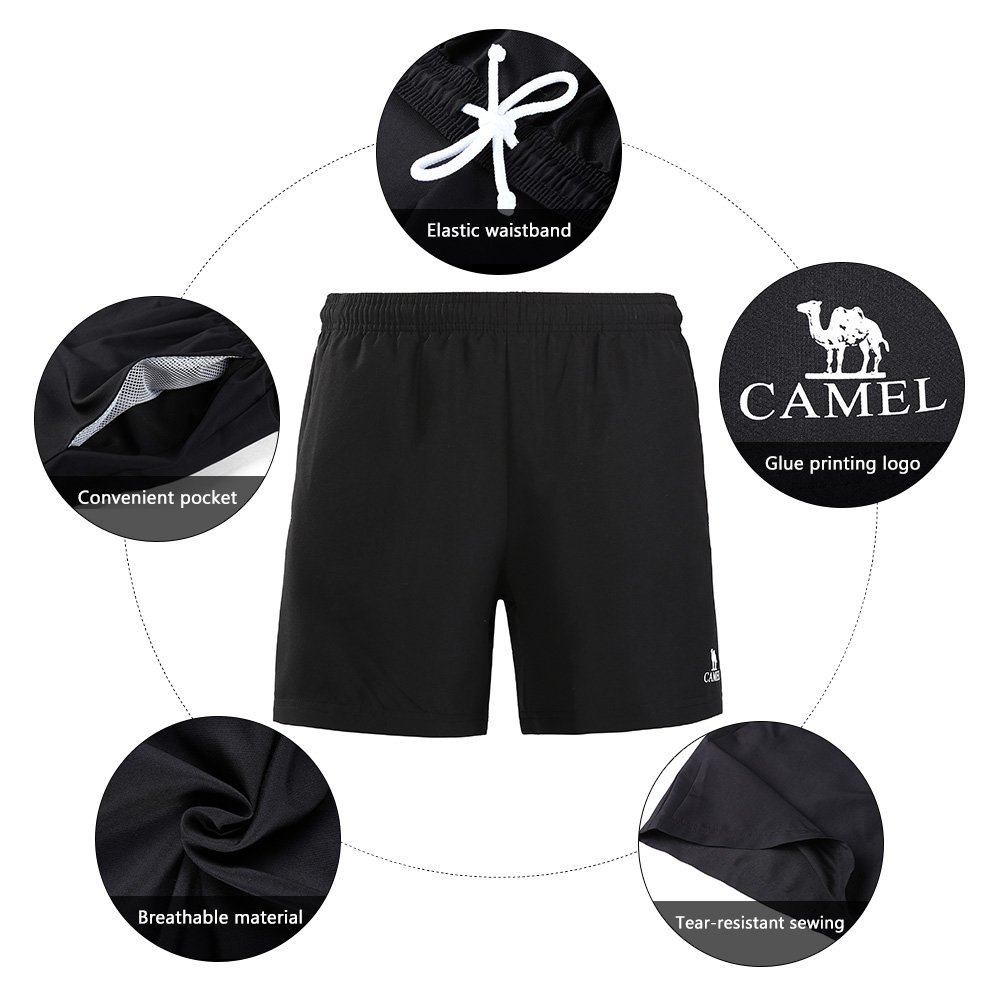 CAMEL CROWN Men\'s Tennis Shorts Pajama Sleep Shorts Quick Dry Sports Shorts with Pockets for Golf Running Yoga