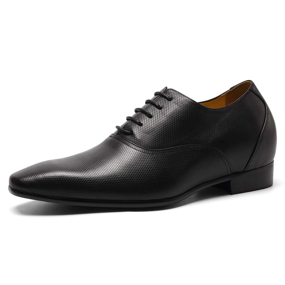 - CHAMARIPA Men Cow Soft Leather Elevator shoes, Height Increase Oxford Business Dress shoes 2.95 inches Taller K4020