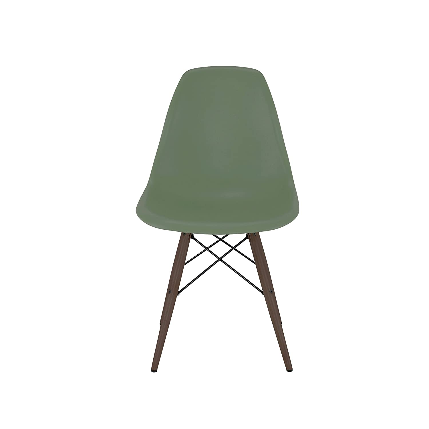 Mountain Forest Seat Set of 2 Design Lab MN Trige Side Chair with Walnut Base