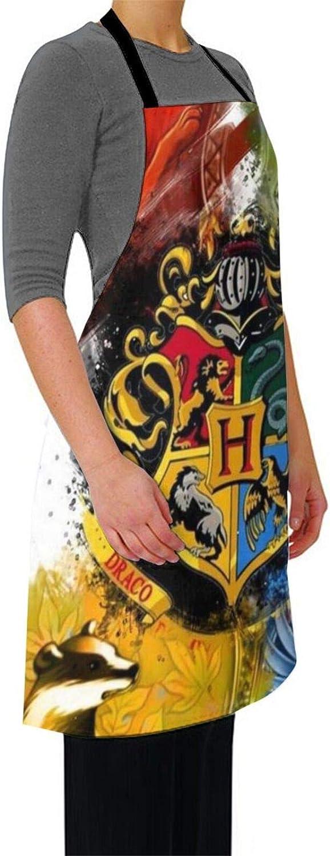 taglia unica colore: nero /è un prodotto indispensabile per cameriere Krr H-Arry Potter Grembiule impermeabile molto adatto per la pittura