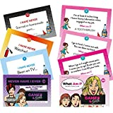 Hannah's Games What Am I + Never Have I Ever Card Game **Duo Saver Pack** Hen Party Games - 20 Drink if you have Game Cards and 20 What am I Game packs - Hen Party Accessories