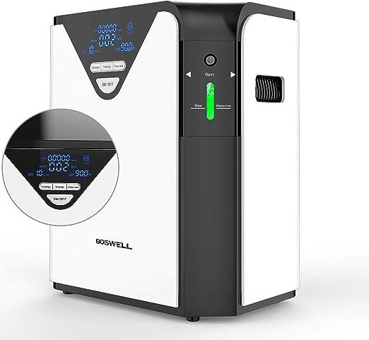BOSWELL 1-6L Generador de Concentrador de Oxígeno Portátil, Purificador de Aire de Oxígeno de Alta Pureza del 93 ...