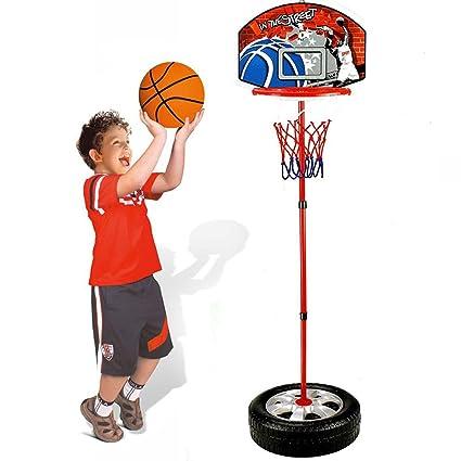 c15ae49133e7 Bakaji Basket Canestro a Piantana per Bambini Altezza Regolabile fino a 120 cm  con Pallone Base in Plastica Riempibile con Acqua o Sabbia  Amazon.it   Giochi ...
