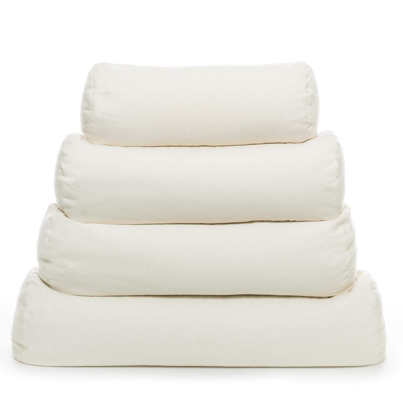 Comfy Neck Side Sleeper Buckwheat Hull Pillow with Pillowcase - Medium (17'' x 6'') - Made in USA
