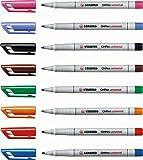STABILO OHPen - Pochette de 8 marqueurs (encre non-permanente / pointe médium 1,0mm)