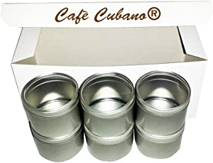 Food Grade Round Tin Container Set (6 Pieces) 4 Oz with Clear Top Lid Cover: Professional Restaurant and Home Kitchen Use to Keep Dry Condiments, Herbs and Spices Organized and Fresh From Spoilage.