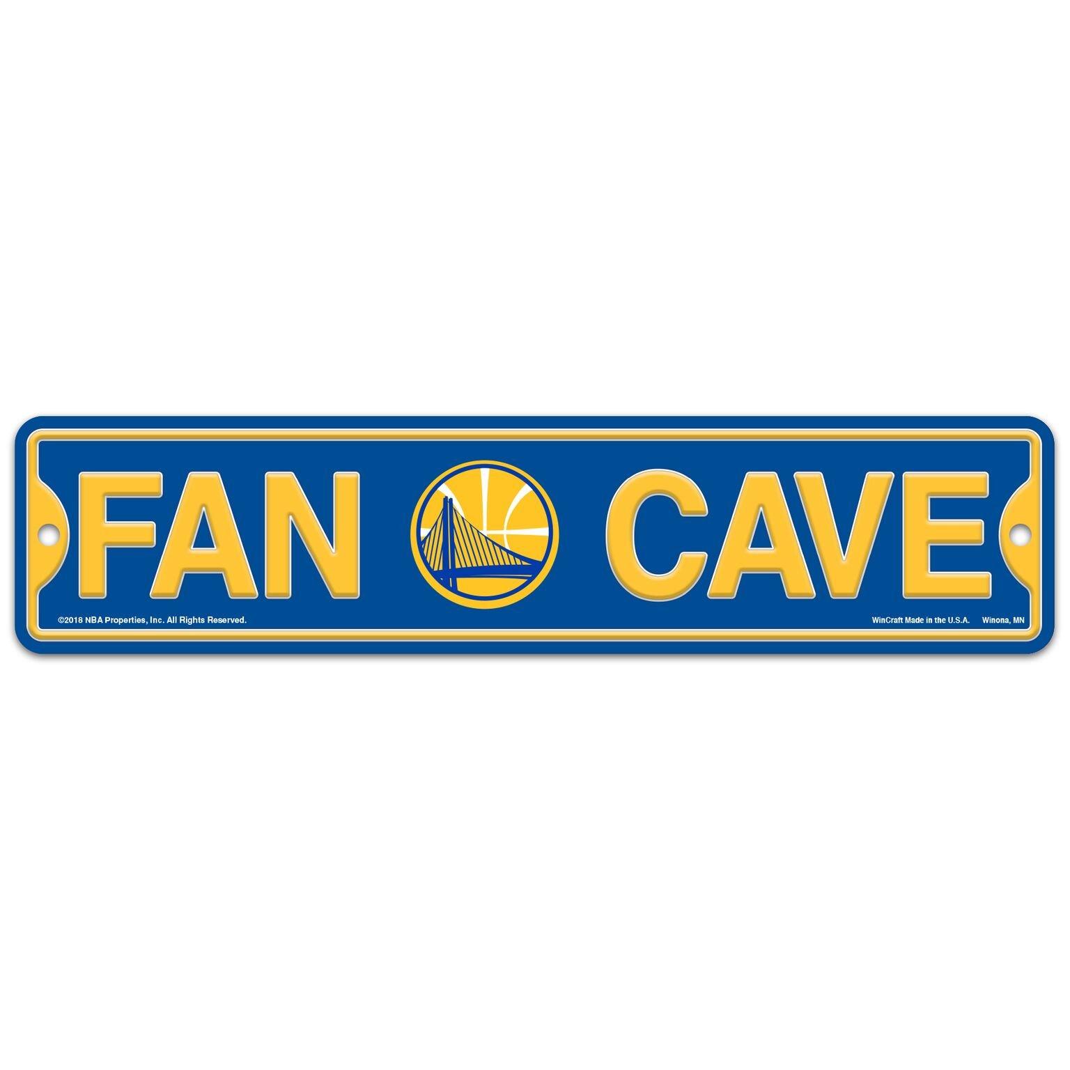 WinCraft Golden State Warriors Basketball NBA Plastic 4'' x 17'' Street Sign