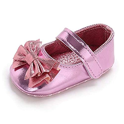 c098c60e7a69 Baby Girls Mary Jane Flats Sparkly Princess Dress Shoes Soft Sole Non-Slip  Toddler First Walkers