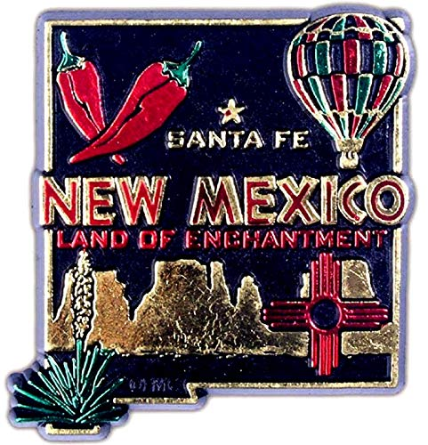 New Mexico Land of Enchantment 4 Color Fridge -