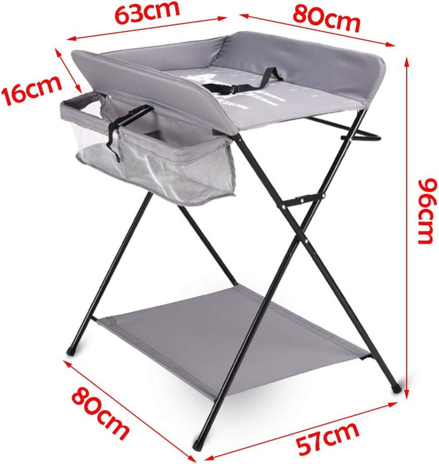 N-A Table /à Langer avec Coffre Pliante /à tiroirs Support de Table /à Langer Mobile Compartiment lat/éral et Accessoire