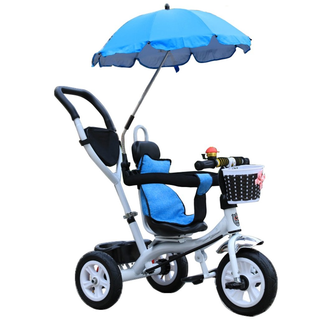 KANGR-子ども用自転車 三輪車のベビーキャリッジバイク子供のおもちゃのトロリーインフレータブルホイール自転車3ホイール、回転可能な座席(ボーイ/ガール、1-3-5歳) B07BTXP68F