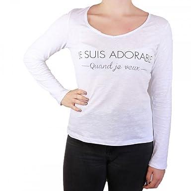 Shirt En Blanc Quand T Coton Femme L Suis Veux Adorable Je Zw6qBq