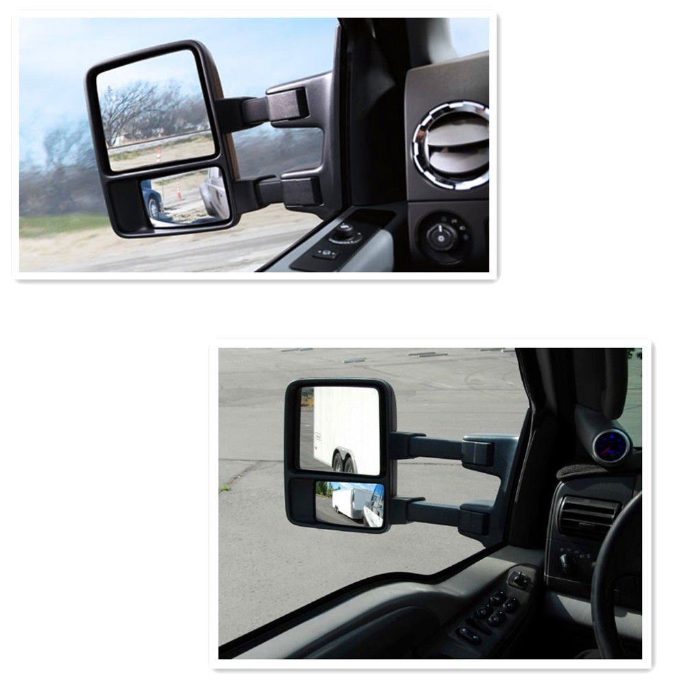 Nova For 99 07 Ford F250 F350 F450 F550 Super Duty99 05 2002 Silverado Wiring Diagram Heated Mirrors Excursion Pair Set Power With Smoked Side Turn Signal Lights On Glass