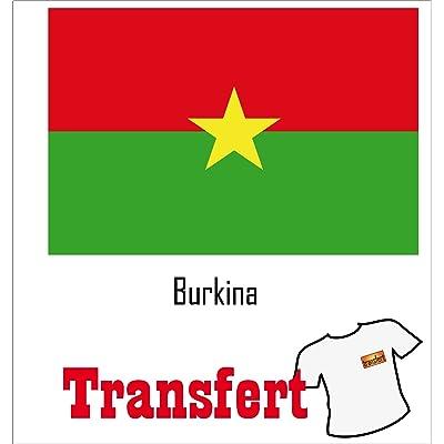 3 Transferts pour textile clair 25 x 40 mm Drapeau Burkina