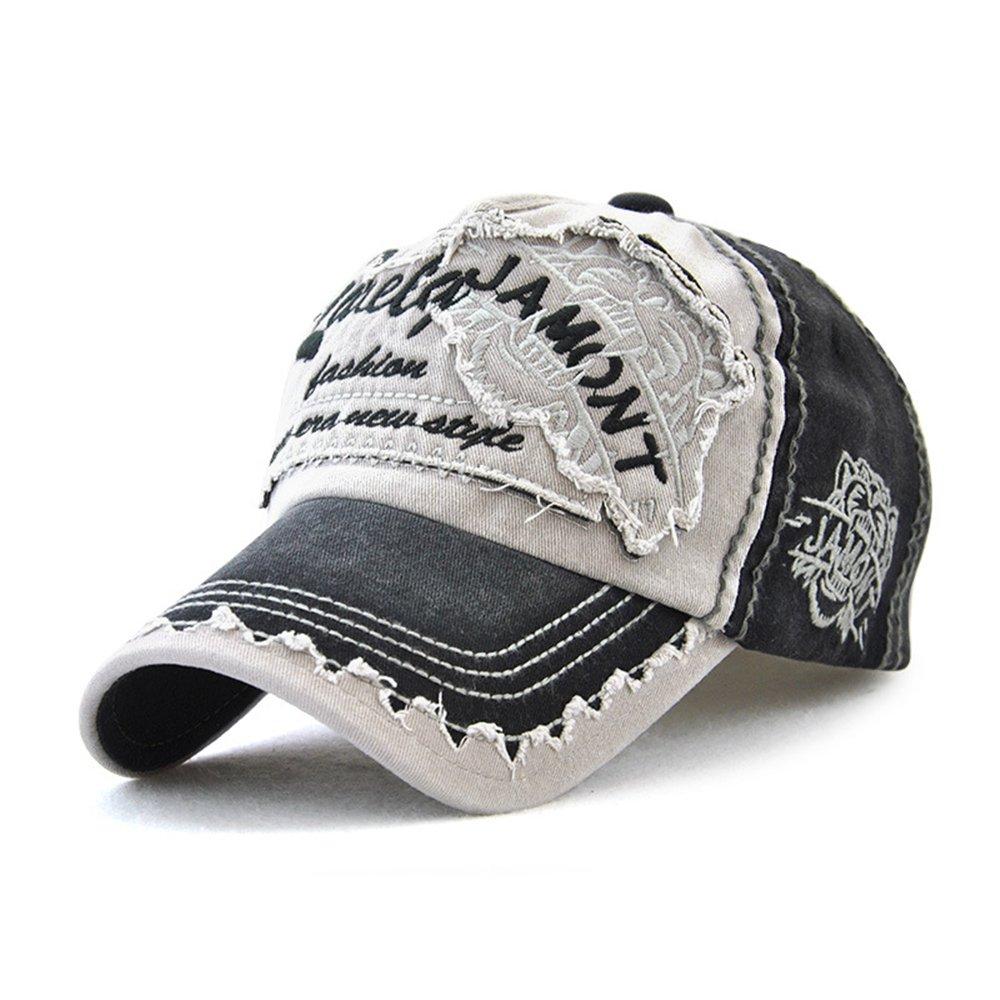 552c2a0e0fb Product description. Vintage Washed Denim Baseball Cap Classic Cotton  Patchwork Grinding Dad Hat Snapback Adjustable Plain ...