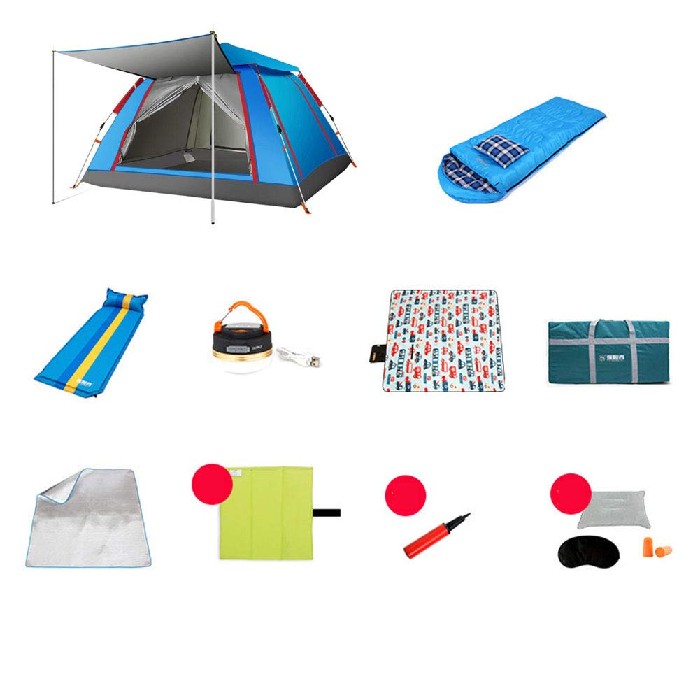 1-1 Bergsteigerzelt, Einzelschlafsack  3 einzelnes aufblasbares Kissen  3 3 3 AufladungszeltlichtPicknickmatteFeuchtigkeitsauflagemehr Pop Up Zelt B07PKQ9H6F Zelte Modern 725fc1