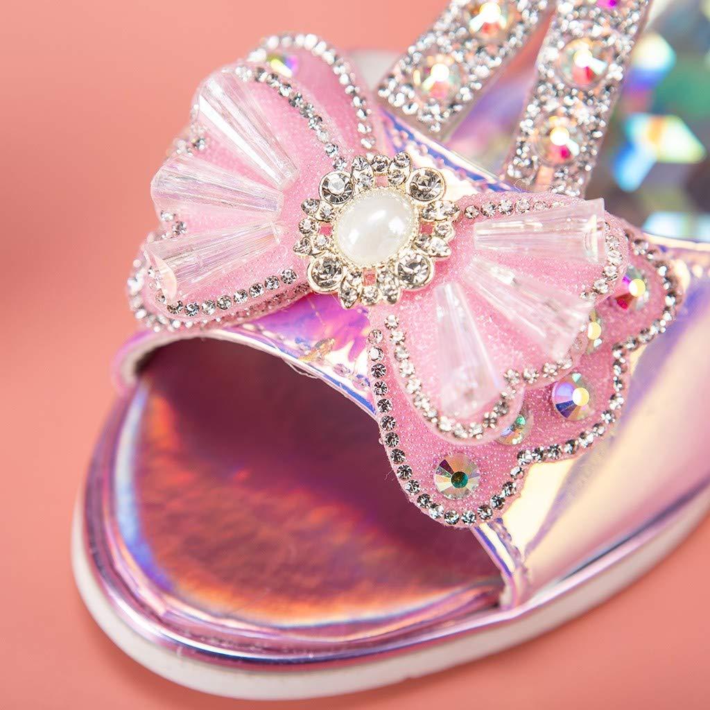 Huifa Summer Infant Baby Girls Crystal Sandals Bowknot Pearl Princess Shoes