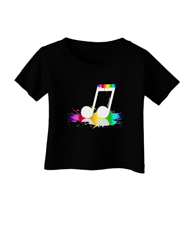 TooLoud Paint Music Note Infant T-Shirt Dark