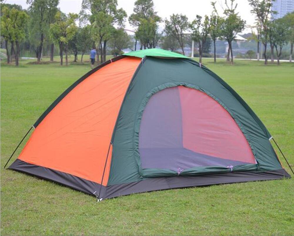 2 Personen Zelt, Super Leichte Glasstange Einlagige Regensichere Familie Camping Zelt