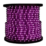3/8 in. - Incandescent - Purple - Rope Light - 2 Wire - 120 Volt - 150 ft. Spool - Purple Tubing with Warm White Bulbs - 10MM-PU-150