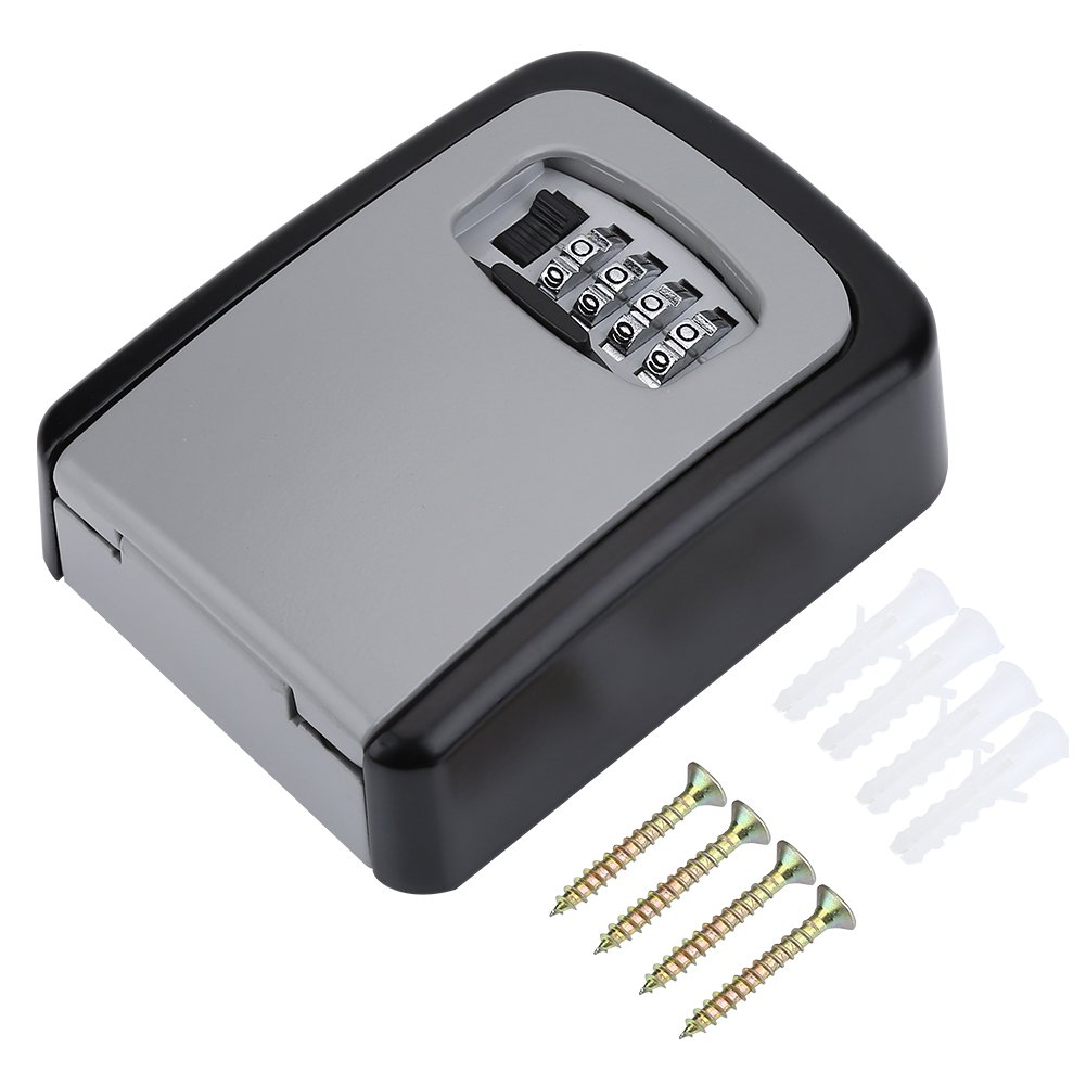 4 Digit Coded Lock Box for Cash, Safe Box for Home, Safe Storage