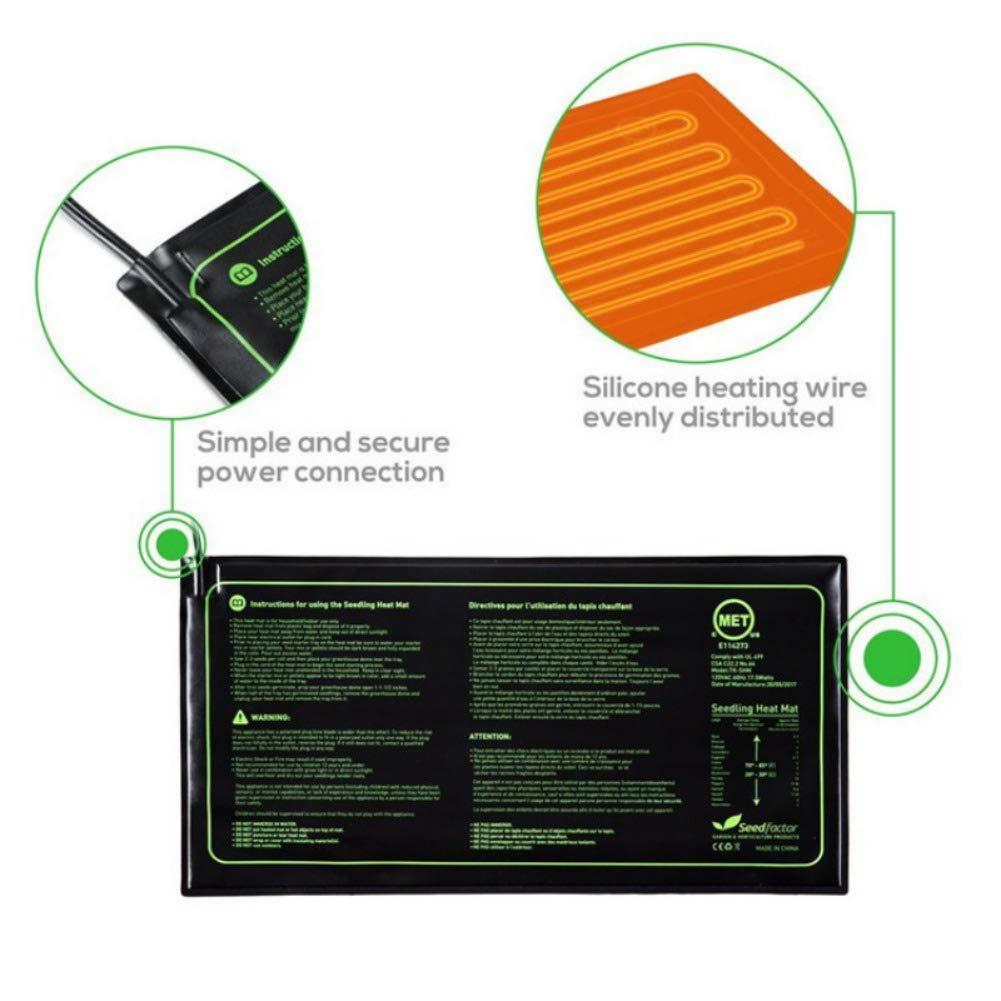 Btbtoc Garden Waterproof Seedling Heating Mat Plant Growth Mats Seed Germination Propagation Clone Starter Heating Pad