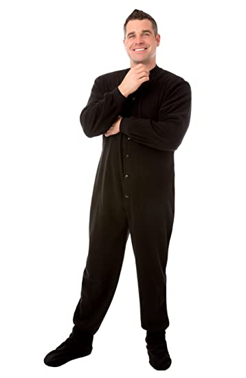 926e6b54a8 Image Unavailable. Image not available for. Color  Big Feet PJs Black  Micro-Polar Fleece Adult Footed Sleeper Onesie Pajamas