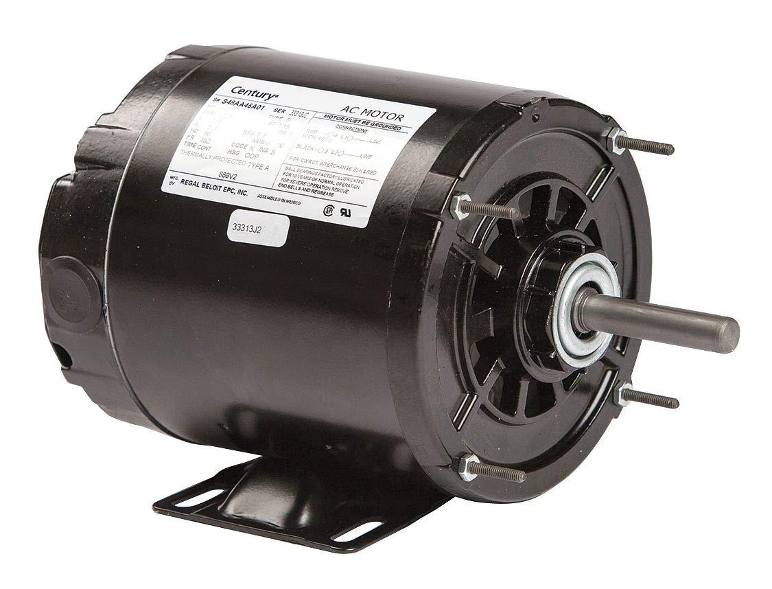 Motor,Split Ph,1//6 HP,1725,115V,48Z,Open CENTURY RB2014