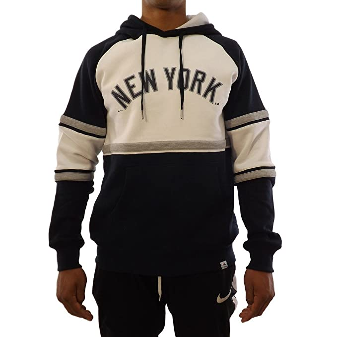 Majestic Felpa Con Cappuccio Mlb New York Yankees Fleece block Oth  bianco blu grigio 38424743796c