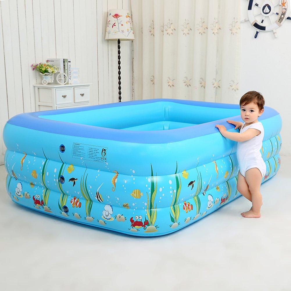 Verdickte Kind nach Hause aufblasbare Schwimmbecken/Baby Baden Kinder Planschbecken/Familie Baby adult eckiger Pool-B