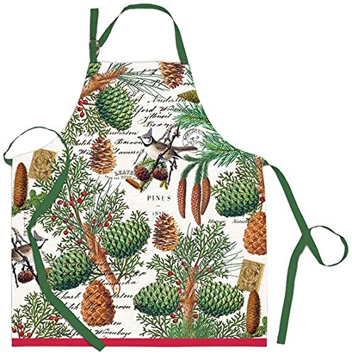 Michel Design Works Cotton Chef Apron, - Pinecone Design