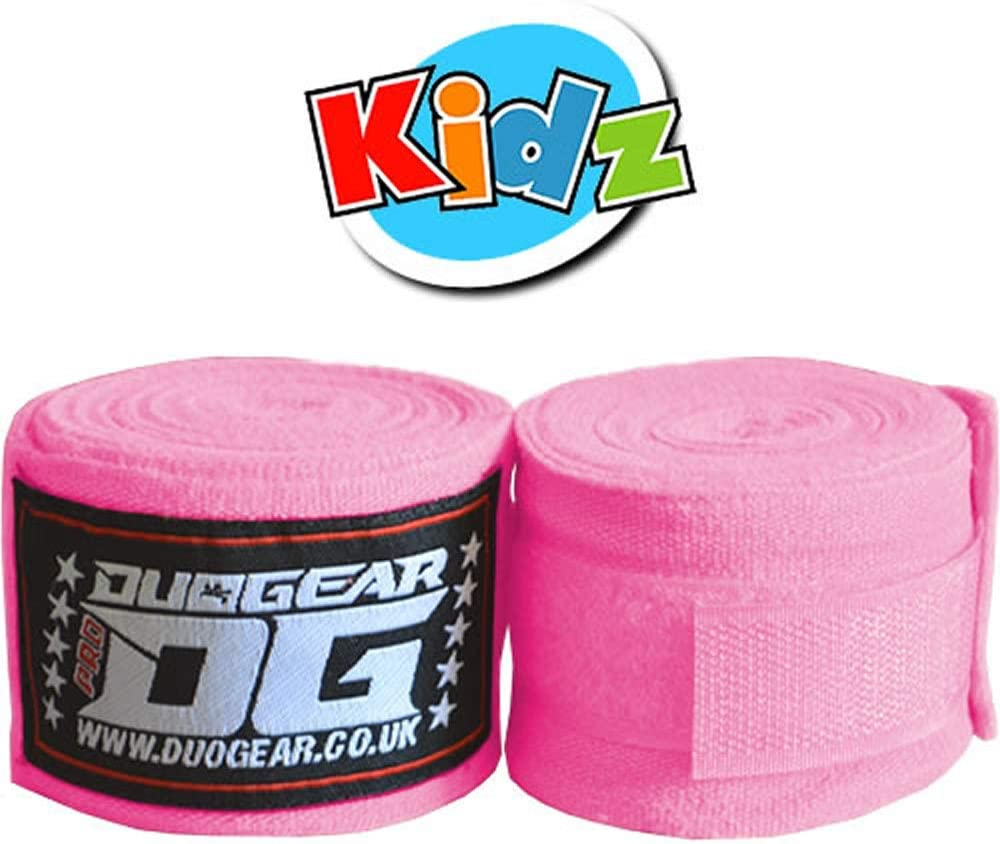 DUO GEAR 1.5m MUAY THAI BOXING KICKBOXING MMA MARTIAL ARTS FIST BANDAGE MEXICAN STYLE HAND WRAPS FOR KIDS