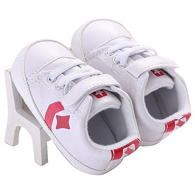 WAYLONGPLUS Prewalker Infant Anti-Skid Soft Baby Shoes Toddler Sneaker (White Size 12) : Baby