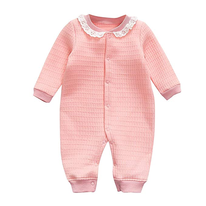 wholesale dealer 6390c 5eda9 wuayi Baby Mädchen Strampler, Mädchen Einfarbig Lange Ärmel ...