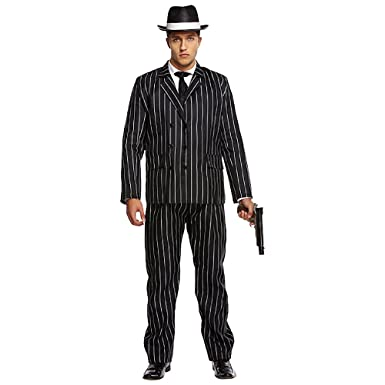 Adult Mens 1920s Gatsby Gangster Gangsta Bugsy Malone Fancy Dress Costume Outfit STD XL