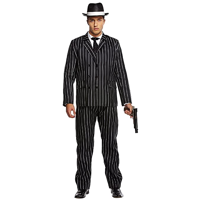 ecd8040a714 Adult Mens 1920s Gatsby Gangster Gangsta Bugsy Malone Fancy Dress Costume  Outfit STD   XL (