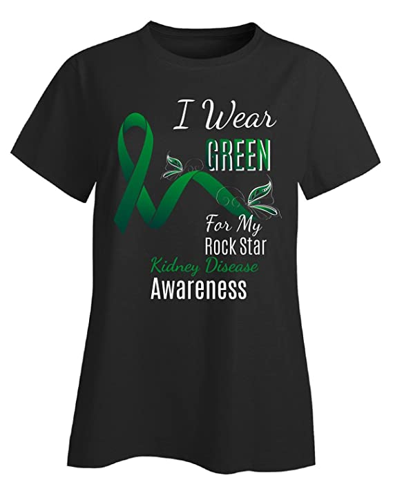 Amazon. Com: rock star awareness i wear green for my kidney disease.