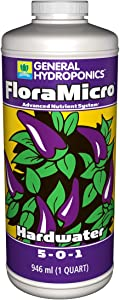 General Hydroponics GH1612 FloraMicro Hardwater for Plants, 1-Quart fertilizers, Natural