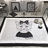 dream_home Toddler Play Rug Gift - Playroom Cute Mats Machine Wash Adult Twin Size with Sides Kids Newborn
