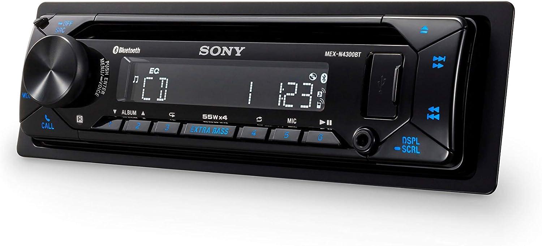 USB und AUX Anschluss Sony MEX-N4300BT Autoradio mit CD blau Freisprechen Dual Bluetooth 4 x55 Watt