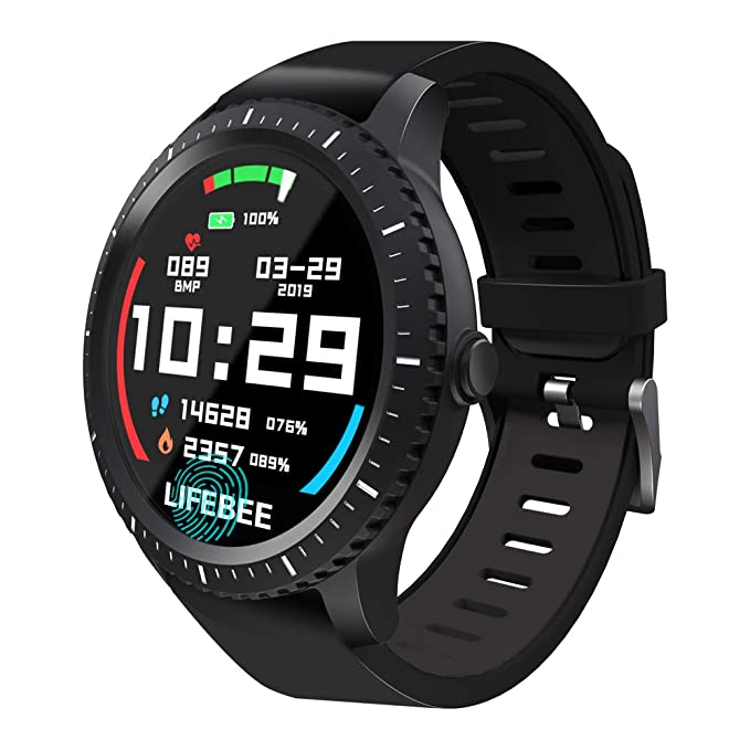 Smartwatch, LIFEBEE Reloj Inteligente Hombre Mujer, Pulsera Actividad Inteligente para Deporte, Impermeable IP68 Reloj de Fitness con Monitor de Ritmo ...