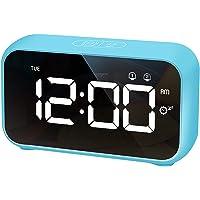 HOMVILLA Despertadores Digitales, Reloj Despertador Digital, Mini Reloj Digital Despertador, Alarma de Espejo Portátil…