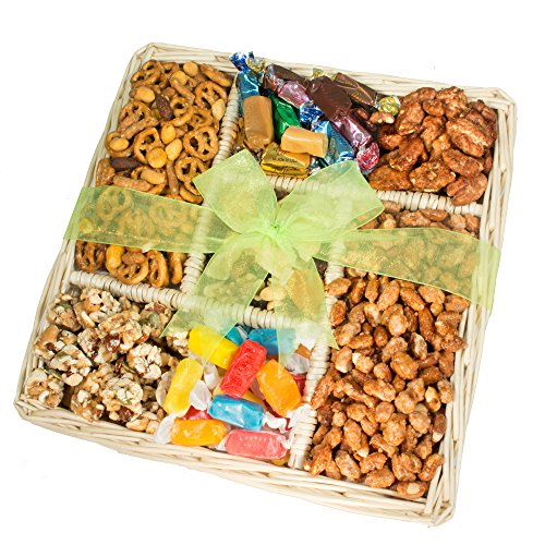 Deluxe Fruit Tray Dried (Nuts, Caramels & Sweets Gift Basket - Perfect for Any Occasion)